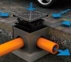 Устройство приемного колодца для ливневой канализации