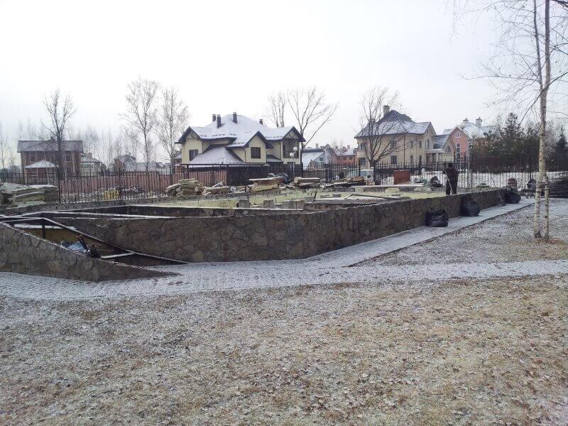 Демонтаж сгоревшего дома в Чехове