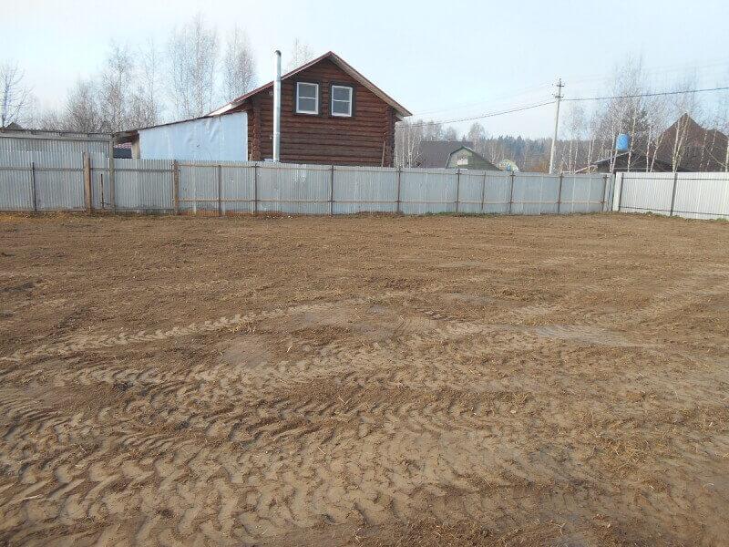 Расчистка и планировка участка в Дмитровском районе