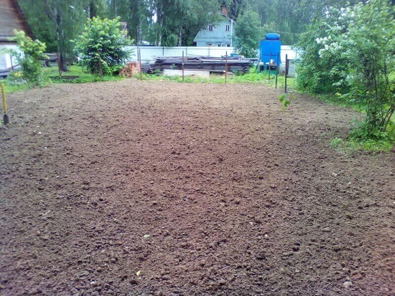 Демонтаж кирпичного фундамента с отсыпкой грунтом в Подольском районе