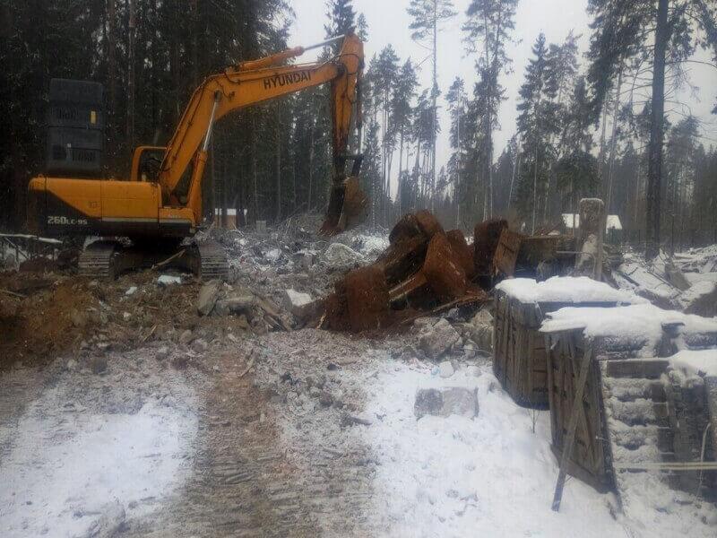 Демонтаж фундамента в Красногорском районе