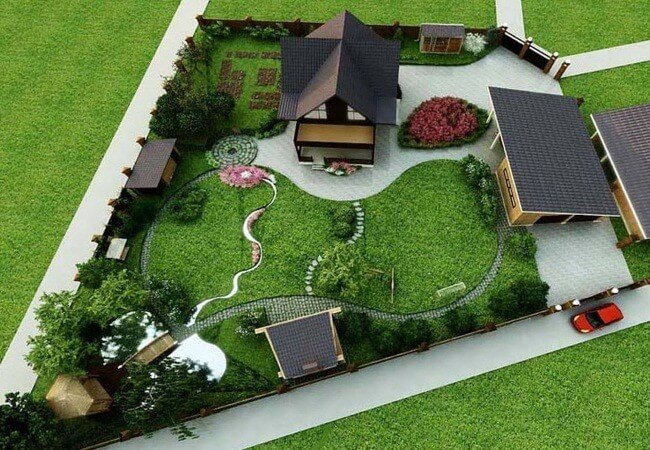 Планировка садового участка в Москве