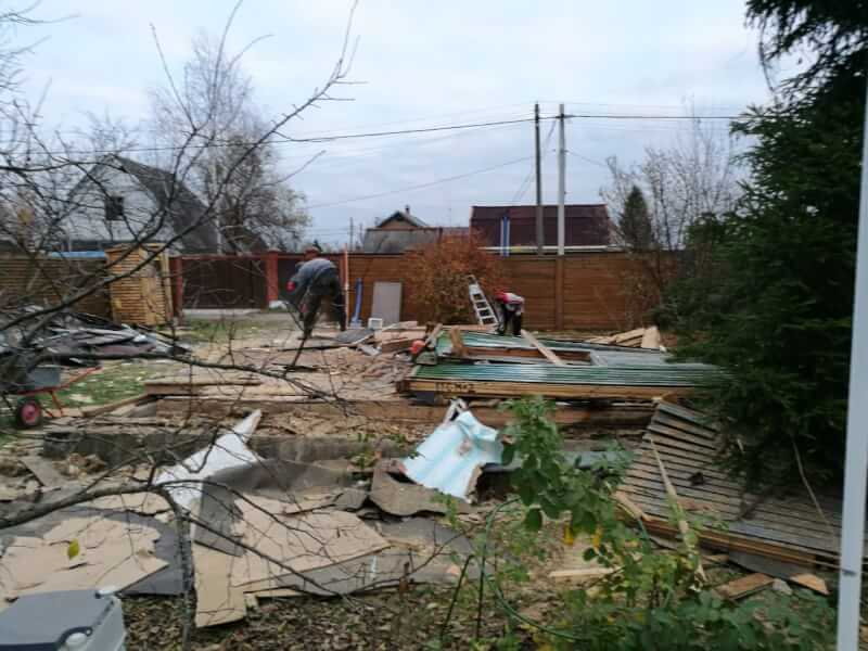 Демонтаж частного дома Пирогово