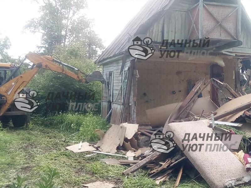 Демонтаж щитового дома техникой Наро-Фоминск